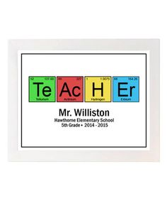 Look at this #zulilyfind! Periodic Table Teacher Personalized Print by Hypolita #zulilyfinds