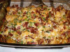 Loaded Potato And Buffalo Chicken Casserole Recipe