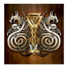 Norse Valknut Dragons by naumaddicarts