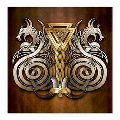 Norse Valknut Dragons by naumaddicarts