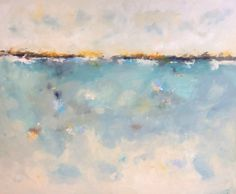 Large Abstract Seascape Original Painting  by lindadonohue on Etsy