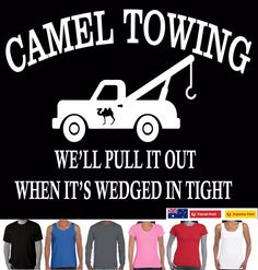 3a8fc9708 Details about Funny T-Shirts CAMEL TOWING Rude offensive Men's Singlets  Tee's Aussie Store new