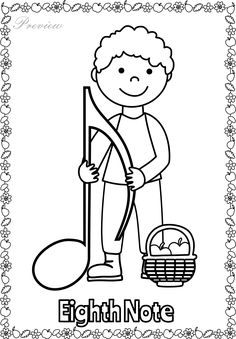 Music Notes Coloring Pages . 30 Music Notes Coloring Pages . Musical Coloring Pages Preschool Music, Music Activities, Teaching Music, Music Note Symbol, Music Symbols, Piano Lessons, Music Lessons, Music Theory Worksheets, Music Crafts