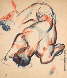 """Deineka, drawing from """"Boxer of the City Poles"""" Life Drawing, Figure Drawing, Painting & Drawing, Body Painting, Pretty Art, Cute Art, Art Sketches, Art Drawings, Arte Indie"""