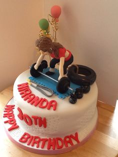 Cross fit lovers cake
