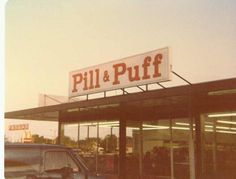 Southgate Mall Pill & Puff in Milwaukee, WI 70s Decor, Retro Home Decor, Hippie Style, West Allis, Storefront Signs, 70s Aesthetic, Milwaukee Wisconsin, Vintage Hippie, Makeup To Buy