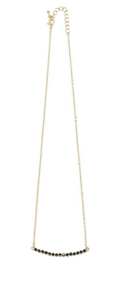Curved Bar Gold Necklace dainty/ minimal/ simple/ layering
