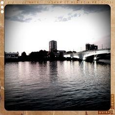 Wandsworth Bridge taken from 'The Ship' in Wandsworth - Using Retro Camera app