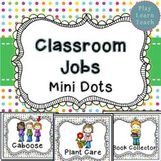 Classroom Jobs - Mini Dots  30 job cards