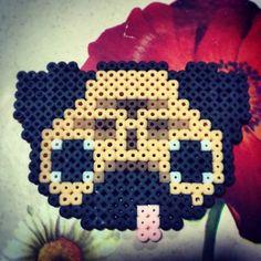 Pug hama beads by macacocaradepasa