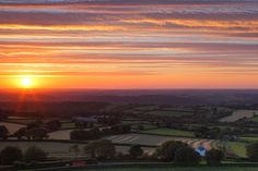 The Idyllic rural Southwest of England at sunset. Keep in touch on Twitter: @gking_photo