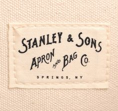 From Stanley & Sons: