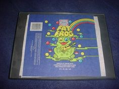 The original wrapper from the greatest novelty of all - Fat Frog. Look how hip he is with that guitar!