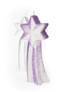 Weihnachts-Sternschnuppe Lila Kerzen aus Zell am See Zell Am See, Purple Candles, Shooting Stars