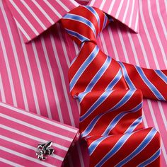 2 Bright Stripes Plus 1 White Formal Shirts Package With Free Tie Smart Designed Inner Lining - Shirts Blue Gingham, Gingham Check, Shirt Packaging, Cutaway Collar, French Cuff, Create Shirts, Business Shirts, Edgy Look, Smart Design
