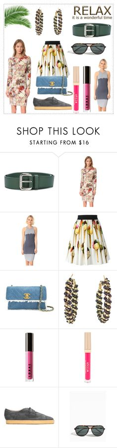 """""""fashion relaxation"""" by kristeen9 ❤ liked on Polyvore featuring Orciani, Black Halo, Monrow, Dolce&Gabbana, Chanel, LORAC, Stila, Vivienne Westwood and Orlebar Brown"""