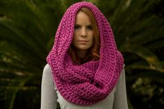 Infinity Scarf Hooded Scarf Oversized Scarf Dark by WellRavelled, $48.00
