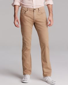 $145, Khaki Chinos: Joe's Jeans Brixton Slim Straight Fit. Sold by Bloomingdale's. Click for more info: https://lookastic.com/men/shop_items/33949/redirect