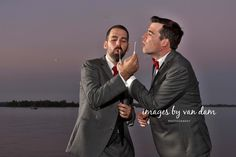 Greg and Greg's Waterfront Wedding at Beachwood Resort: Two Grooms Plus their Groomsgregs Equals a Gregal Party Toronto Photographers, Toronto Wedding Photographer, Groom Ties, Waterfront Wedding, Tie The Knots, Grooms, Equality, Handsome, Wedding Photography
