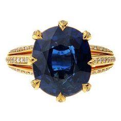 #Bright and #blue, #hope`s gentle #gemstone. 11.47 ct. #Ceylon #Sapphire by…