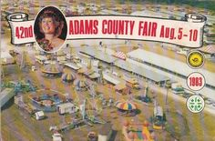 1983 42nd Adams County Fair Program Book Quincy IL Illinois Local Business Ads