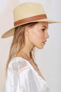 Edie Straw Panama Hat - Accessories | Hair + Hats