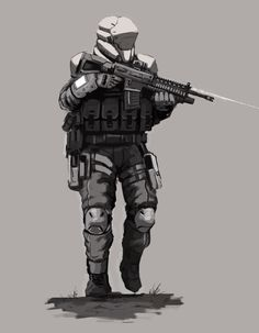 Future Assault Trooper concept art by FonteArt.deviantart.com on @deviantART