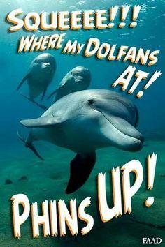 Phins up for sure!!!! Miami Dolphins Funny, Pro Football Teams, Football Season, Dolphins Cheerleaders, Nfl Logo, Washington Redskins, Carolina Panthers, Humor, Oakland Raiders