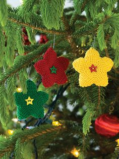 Bright Star Ornament by Coats & Clark free crochet pattern on Ravelry at http://www.ravelry.com/patterns/library/bright-star-ornament