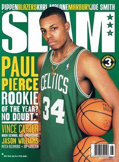 Magazine Cover when Pierce was a Rookie! Loveee it! Celtics<3