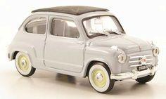 Fiat 600 blue geschlossen 1956 Brumm diecast model car 1/43