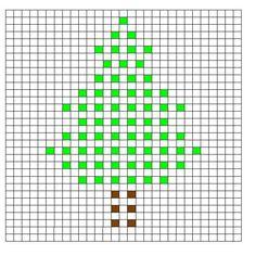 Crochet Bobble Stitch Pattern Tree