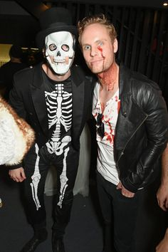 Pin for Later: This Is How Celebrities Celebrate Halloween in the UK Donald Murray and Jack Fox