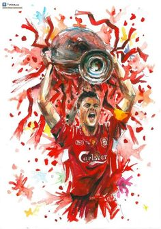 Gerrard in Instanbul Gerrard Liverpool, Liverpool Fans, Liverpool Football Club, Best Football Team, Football Art, Tatouage Liverpool, Stevie G, Liverpool Wallpapers, This Is Anfield