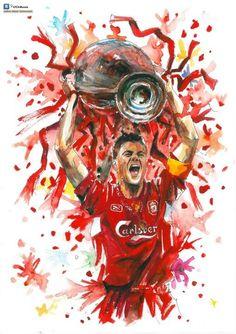 Liverpool FC - Fan Art, captain fantastic #lfc