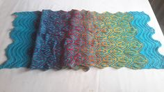 Ravelry: Project Gallery for Psychedelic Shawl pattern by Xandy Peters