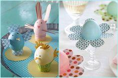 Asztali tojásdíszek Húsvétra, sablonokkal