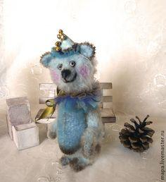 Мишка Циркач Гриня - голубой,мишка,мишки тедди,мишка тедди,тедди,мохер