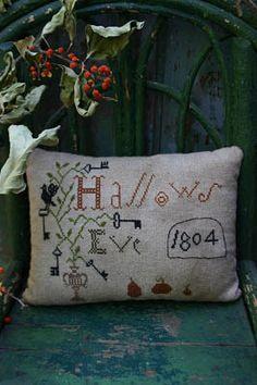 Hallows Eve Sampler Pillow - Cross Stitch Pattern