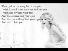 Taylor Swift - Your face [Lyrics]