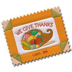 2001 34c Thanksgiving, We Give Thanks Scott 3546 Mint F/VF NH  www.saratogatrading.com