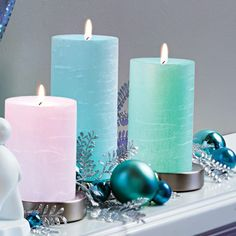 LED color changing pillar bases with our BEAUTIFUL GloLite Candle Pillars #partylite #holidaydecor #christmasdecorations