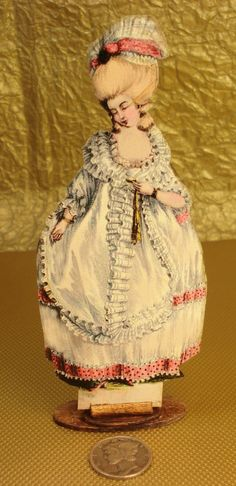 Miniature 1:12 Scale French 1700's Standing Dummy Board
