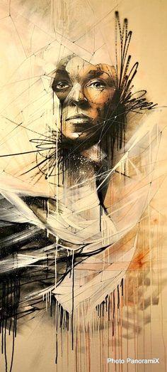 """Femme Diamant"" by HOPARE #Street #Art http://www.bijouxmrm.com/diamants.html"