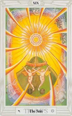 Thoth Tarot, painted by Lady Frieda. A Crowley.