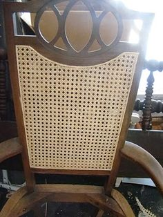 how to cane a chair white leather egg and ottoman 117 best chairs images furniture wicker re caning