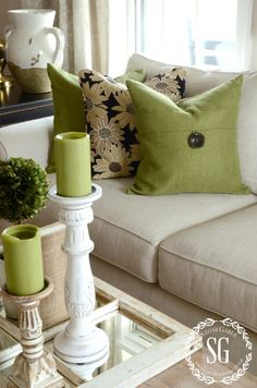 4 Remarkable Hacks: Living Room Remodel Before And After Renovation living room remodel ideas kitchen cabinets.Living Room Remodel With Fireplace Products small living room remodel storage spaces.Living Room Remodel Before And After Tips. Pillow Collection, Living Room Green, Living Room Sofa, Pillows, Living Room Remodel, Beige Pillows, Living Decor, Home Decor, Room Decor