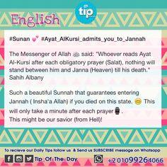 #sunan #teachings  Ayat-Al-Kursi in the quran admits you to Jannah ( paradise )