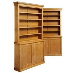 A Pair Of Maple Bookcases