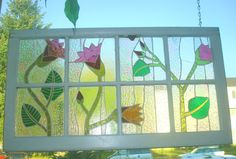 Fleurits Enchantees stained glass mosaic window by jadamoon on Etsy https://www.etsy.com/listing/15984064/fleurits-enchantees-stained-glass-mosaic